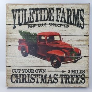 Yuletide Farms Retro Christmas Decoration Sign